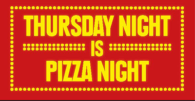 Thursday night is pizza night