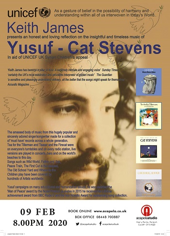 Cat Stevens Tour Dates 2020 The Music of Yusuf   Cat Stevens   performed by Keith James