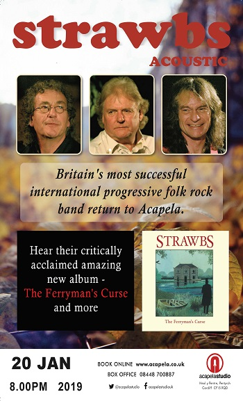 Acoustic Strawbs in concert Cardiff Wales - Acapela Studios